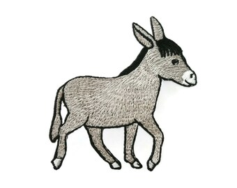 Donkey Embroidered Applique Iron on Patch