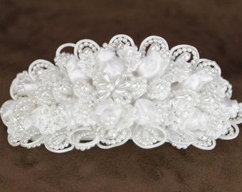 Satin Bridal Head Comb