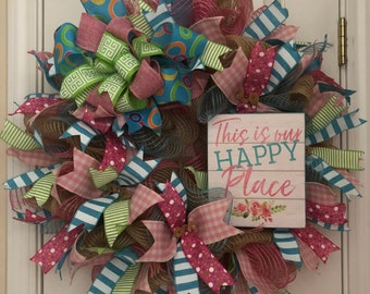 This is My Happy Place Wreath