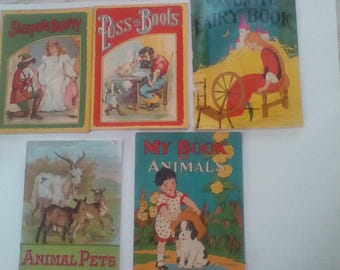 Vintage children's linen books