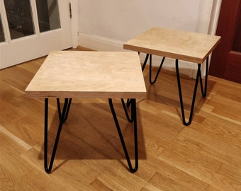 Low Plywood Hairpin legged table