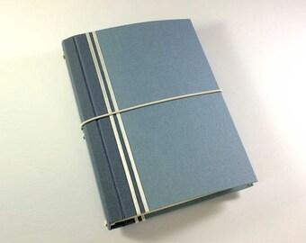 CitriDori 'Chambray' Travelers Notebook. Hard Cover Refillable Journal, Bookdori, Midori, Fauxdori, Fabridori, Bullet Journal