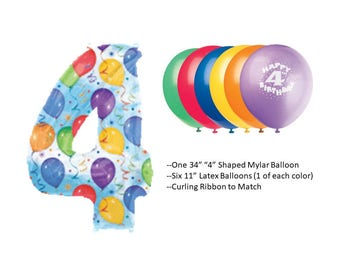 4th Birthday Balloons