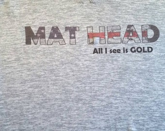Mat head wrestling shirt youth large 10-12