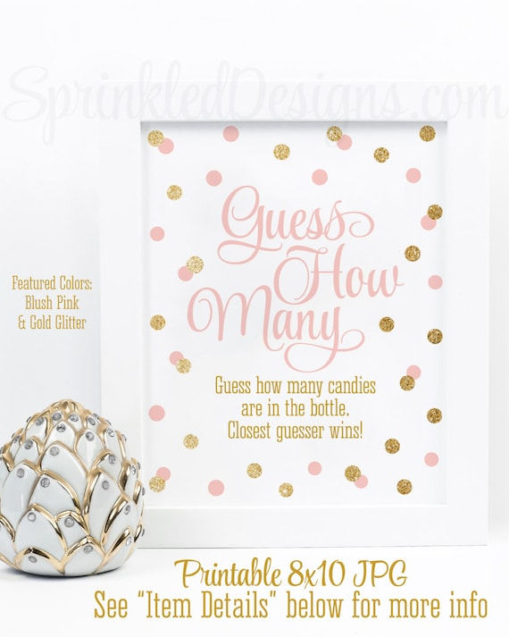 Candy Count Baby Shower Game - Showers of Fun