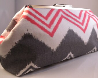 Navajo Pink and Grey Clutch