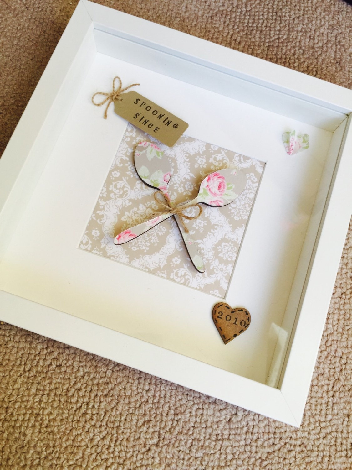 Spooning since frame box frame valentines gift anniversary