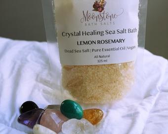 Crystal Healing Bath Salts - Lemon Rosemary