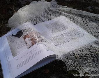 "MADE TO ORDER. Hand knitted Haapsalu shawl ""Sofia pattern"", traditional Estonian lace, 100% wool."