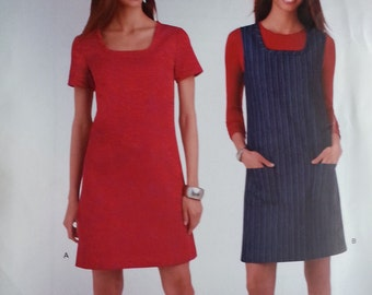 A1265 Simplicity Misses Jumper and Dress Pattern Misses Size 8 to 18 Easy Simplicity Pattern