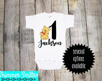Winnie the Pooh Birthday One Piece/Toddler Tee **Several Options**