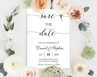 Save The Date, Save The Date Card, Custom Save The Date, Modern Save The Date, Diy Save The Date, Save The Date Invite, Save Date Template