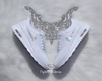 Bling Nike Air Max Thea Made with SWAROVSKI® Crystals - White/White