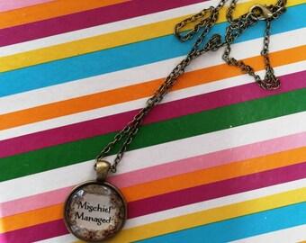 Mischief Managed inspired necklace.