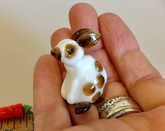 Amilio Earhart  Rabbit  lampwork glass bead