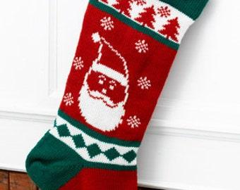 Wool Christmas Stocking Santa (Personalized)