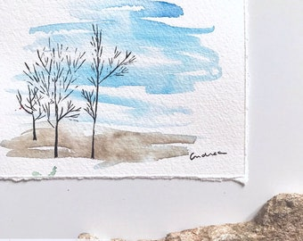 Watercolor Painting: Winter
