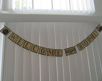 Marines Welcome Home Paper Banner