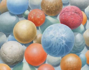 """Painting: """"Spheres II"""""""