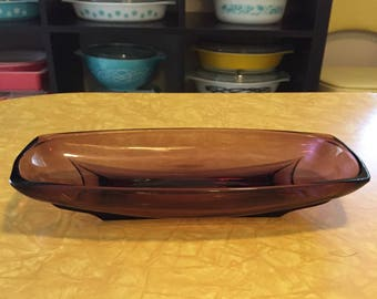 Purple Oblong Glass Dish