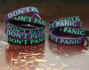 DON'T PANIC silicone bracelet.