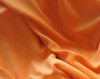Bamboo Organic Cotton Velour - Orange
