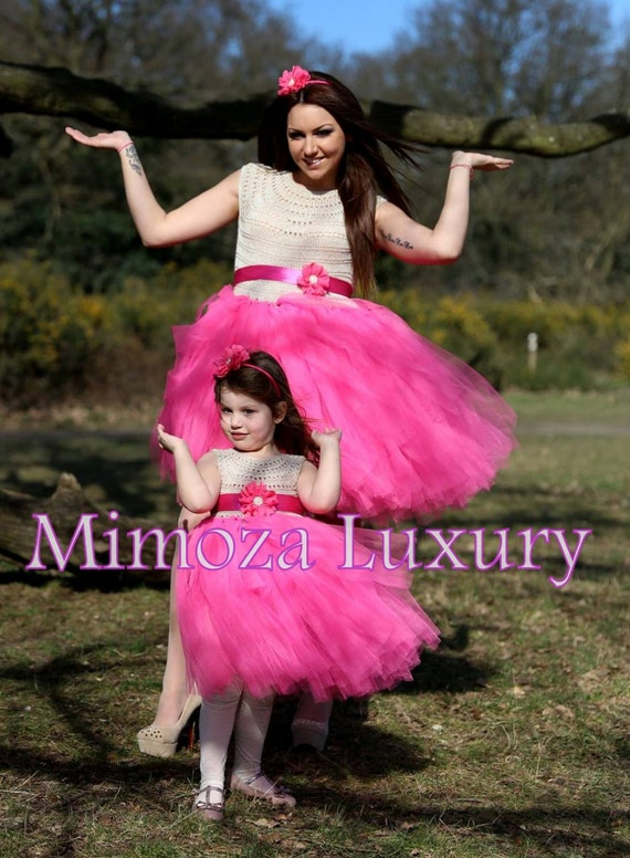Mother Daughter Matching Dresses Adult tutu dress, Bridesmaid dress, Women tutu dress, Wedding dress, Hen party dress, Adult Princess dress