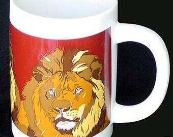 Vintage Otagiri Majestic The Lion Tall Mug