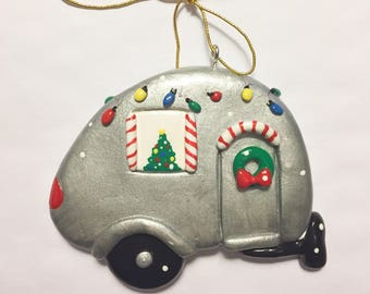 Christmas RV Personalized Ornament /camper /Florida Ornament/Vacation/ Christmas Ornament/Retirment