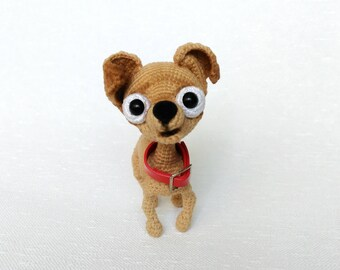 Crochet dog Amigurumi Chihuahua plushie toy Stuffed chihuahua toy Crochet chihuahua Dog lover gift chihuahua Dog replica stuffed animal dog