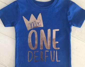 Customizable Mr Onederful Shirt (lots of different color combinations available!), Mr. Onederful shirt, Mr Onederful Birthday Shirt