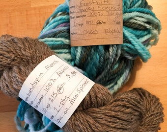 Handspun Yarn Info Labels, Printable