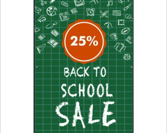 Back to School Sale Vinyl Banner