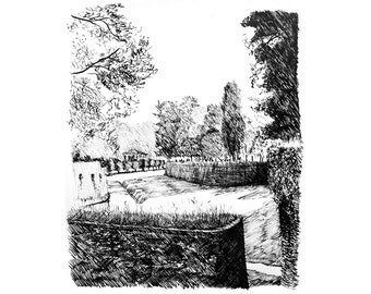 the walls of Lucca — limited edition archival print