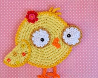 Crochet pattern - chicken coaster by VendulkaM / Kitchen table/ Digital pattern DIY/ pdf