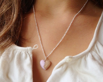 Scented Heart Cookie Necklace