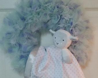 Sleepy Baby Tulle Wreath