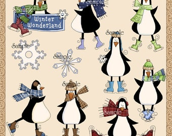 Penguin Winter Fun