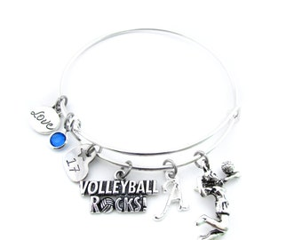 Volleyball Bracelet, Volleyball Gifts, Volleyball Jewelry, Volleyball Bangle, Volleyball Player, Volleyball Gift, Volleyball Team Gift