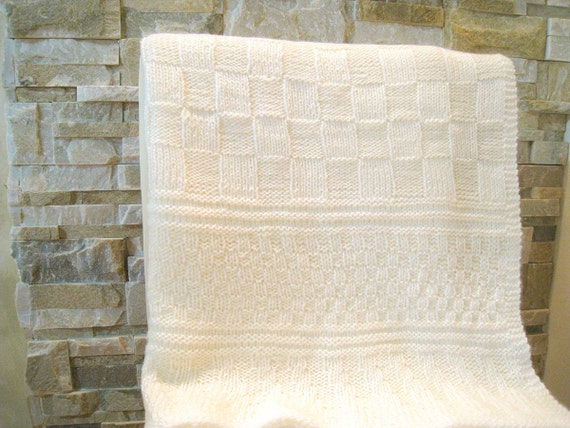 Knitting Pattern Baby Blanket Of Knit And Purl Design