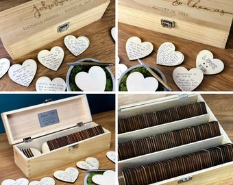 Wedding GuestBook - Unique Guest Book Alternatives - Personalised Custom Guestbook Sign Rustic Wedding Drop Box Personalized Wood Gift Ideas