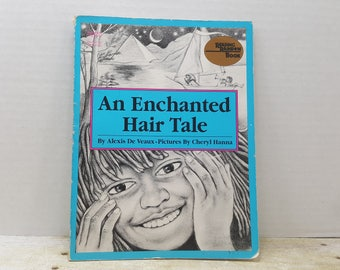 An Enchanted Hair Tale, 1987, Alexis De Veaux, Cheryl Hanna, vintage kids book, Reading Rainbow