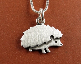 Tiny hedgehog necklace / pendant