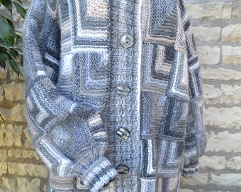 woman knitted coat