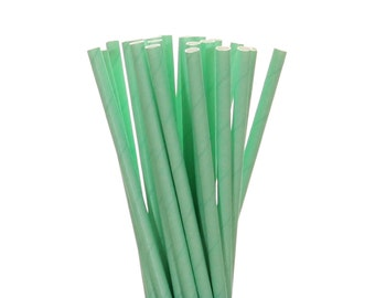Paper Straws, Solid Mint Green Paper Straws, Easter Egg Hunt Decor, Garden Party, Mint To Be Bridal Shower Paper Straws, Mason Jar Straws