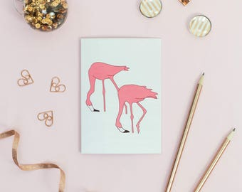 Pink Flamingo Anniversary Card - Gay Couple Greetings Card - Gay Wedding - Lesbian Wedding Card - Engagement -1st Anniversary Card
