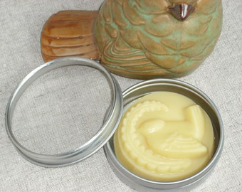 "FREE SHIPPING / Shea Butter-Cocoa Butter Body Butter Bar / Solid Lotion Bar / Bird & Fern design / ""Your CHOICE of scent"""