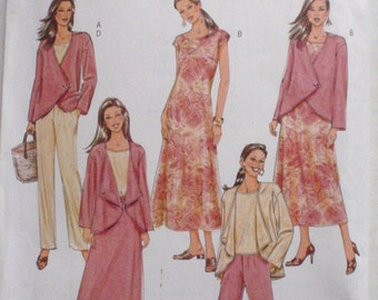Easy Sewing Pattern - Lifestyle Wardrobe - Jacket, Top, Dress, Skirt and Pants - Butterick 4402 - Size 16-18-20-22, Bust 38 - 44, Uncut