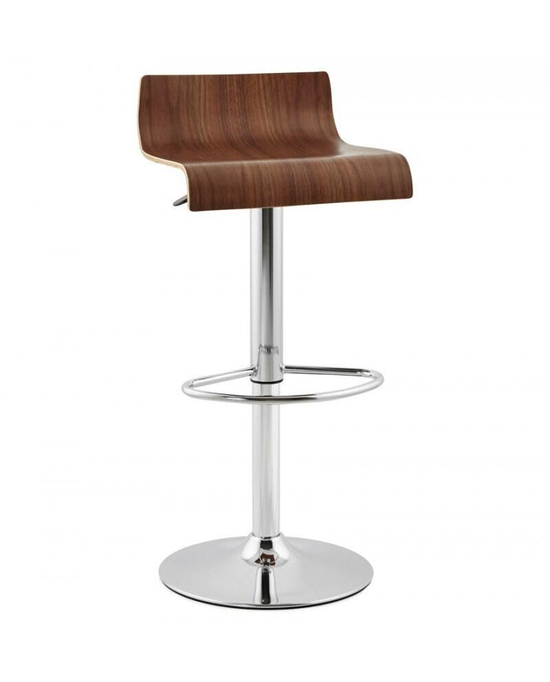 Tabouret De Bar Design Valnot Walnut 39x43x90 Cm