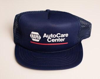 Vintage NAPA AutoCare Center Snapback Trucker Hat, Car Parts Company